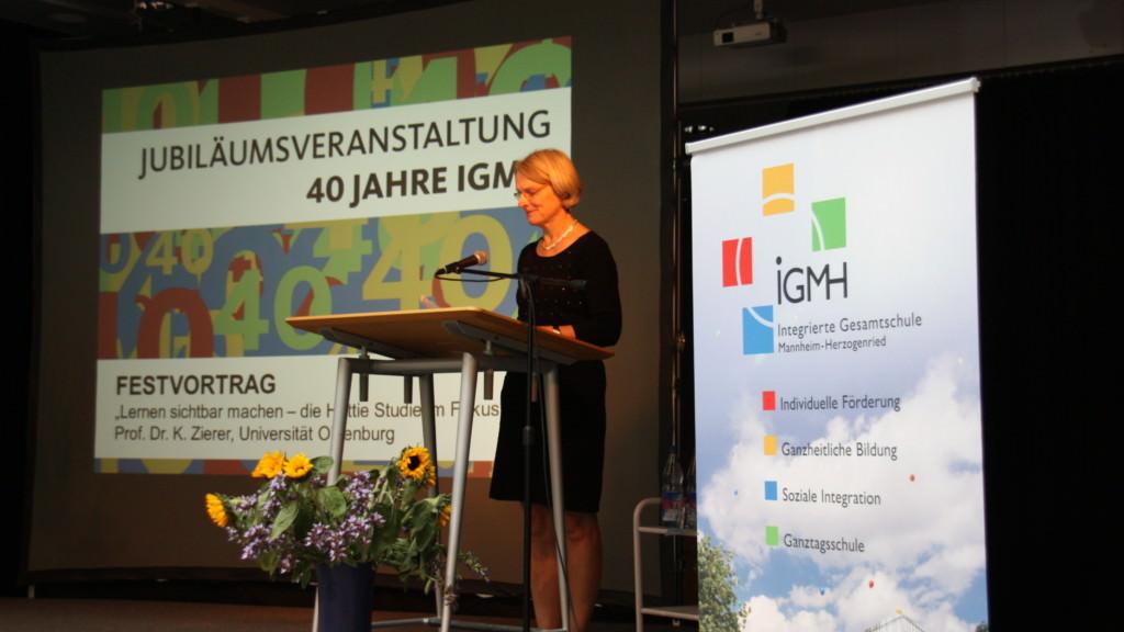 Bürgermeisterin Dr. Freundlieb bei der IGMH-Jubiläumsveranstaltung   Foto: Stadt Mannheim