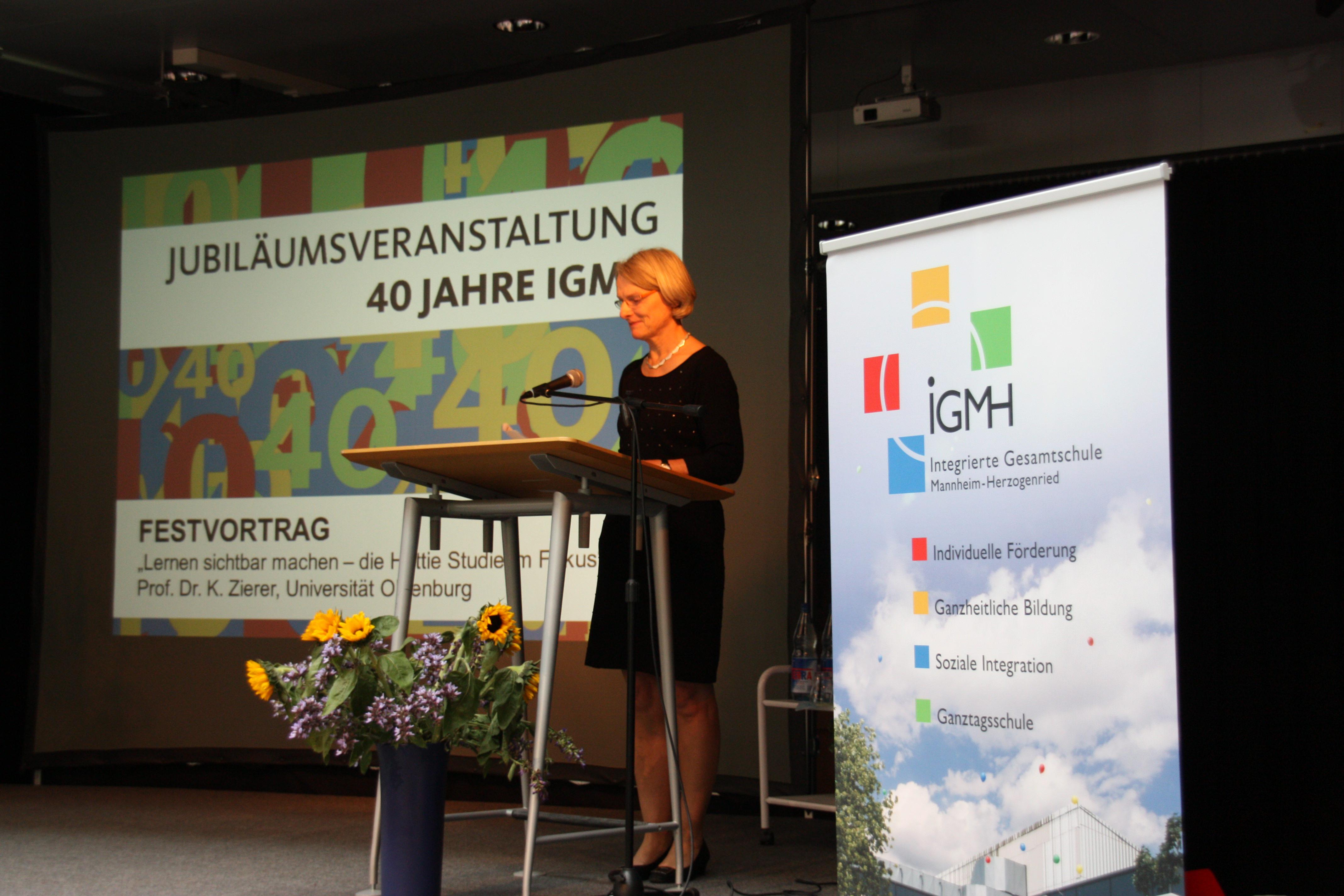 Bürgermeisterin Dr. Freundlieb bei der IGMH-Jubiläumsveranstaltung | Foto: Stadt Mannheim