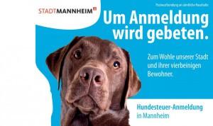 """Ausschnitt der Vorderseite der Postkarte """"Um Anmeldung wird gebeten""""   Bild: Stadt Mannheim"""