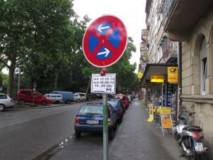 Parkverbotsschilder Lange Rötterstraße