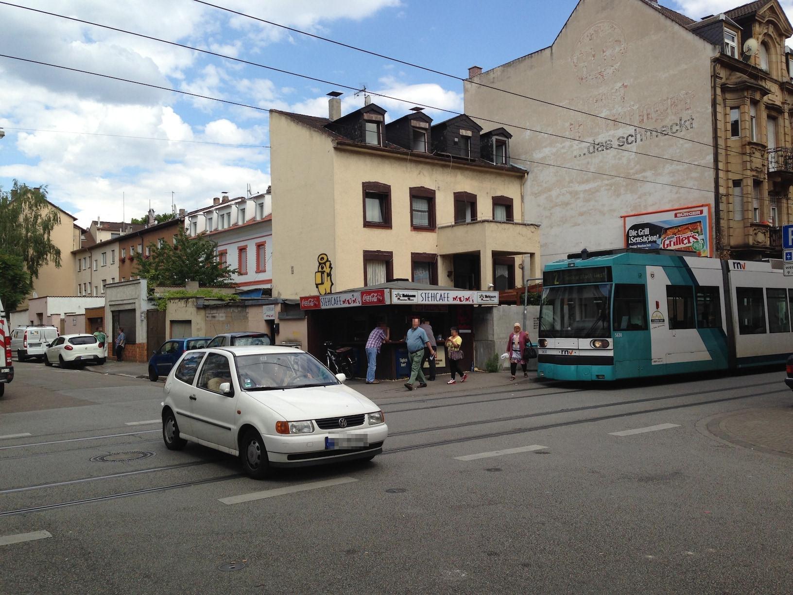 Die Kreuzung Bürgermeister-Fuchs-Straße/Mittelstraße | Foto: Neckarstadtblog