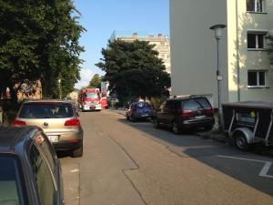Feuerwehreinsatz in der Mainstraße | Foto: Neckarstadtblog