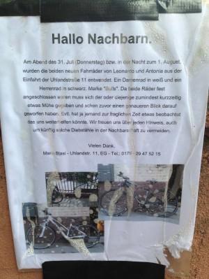 Fahrraddiebstahl in der Nachbarschaft | Foto: Neckarstadtblog
