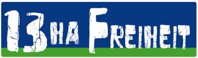 Logo: 13 ha Freiheit