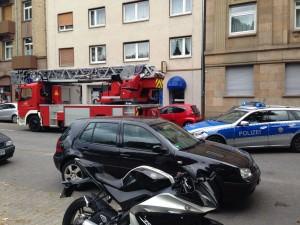 Auch auf der Langen Rötterstraße herrschte für kurze Zeit Verkehrschaos | Foto: Neckarstadtblog