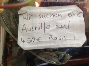 Aushang im Fenster des Café Pfau | Foto: Neckarstadtblog