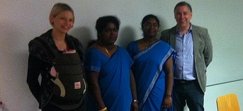 Bis zu 35 Kinder kommen in die Tamilschule in der Neckarstadt. Die SPD-Stadträte statteten der Schule einen Besuch ab. Neue Räumlichkeiten wären aber wünschenswert. | Foto: SPD Mannheim