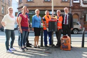 2014 wurden die Papierkörbe in der Neckarstadt-West ausgetauscht | Foto: Stadt Mannheim