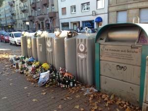 Vor der Uhlandschule sieht es wild aus | Foto: Neckarstadtblog
