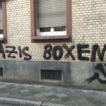 Polizei verfolgt linke Sprayer quer über die Lichtmeile
