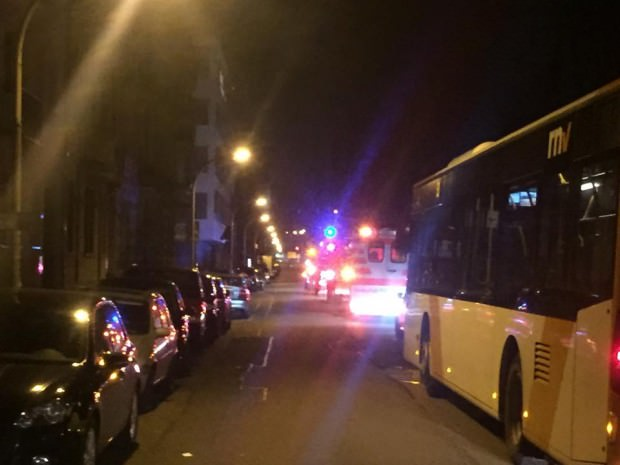 Rettungskräfte in der Dammstraße | Foto: Neckarstadtblog