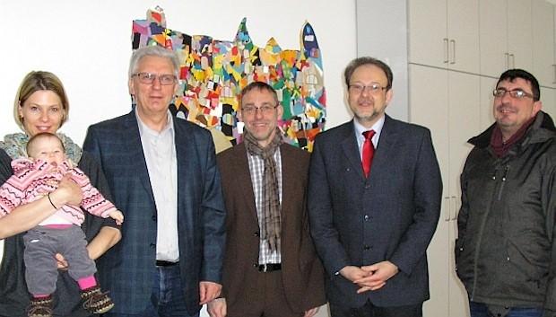 Kamrad, Götz, Baudisch, Leber und Keck (v.l.) sprachen über die Entwicklung der Humboldtschule | Foto: SPD-Kreisverband Mannheim