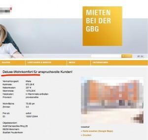 Kein Luxus bei der GBG sagt Geschäftsführer Frings | Screenshot: GBG-Webseite
