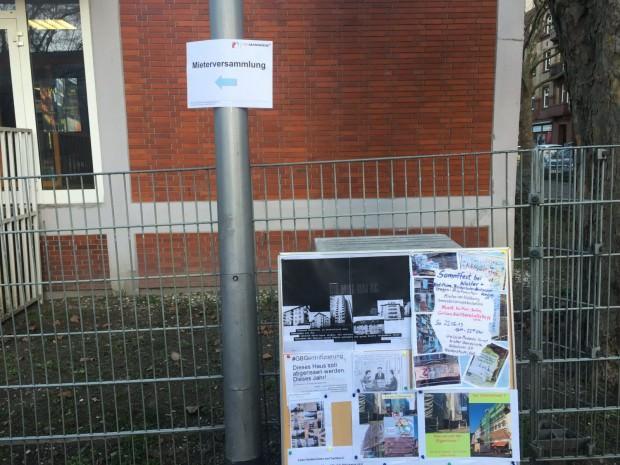 Informationstafel der Initiative FairMieten | Foto: Neckarstadtblog