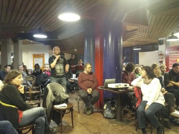 Auch das Publikum hatte zu dem Thema Gentrifizierung beizutragen | Foto: WGDS?