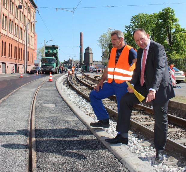 Erster Bürgermeister Specht auf der Baustelle | Foto: Stadt Mannheim