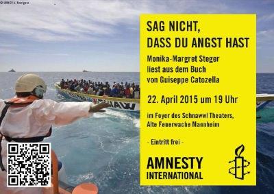 Flyer: Amnesty International Mannheim