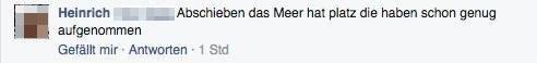 Aktueller rassistischer Kommentar unter der Meldung zur Razzia   Screenshot: MaSagtJa!