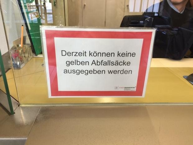 Die Probleme mit den Gelben Säcken bleiben ein Ärgernis, auch wenn es keine mehr gibt | Foto: Stadt Mannheim