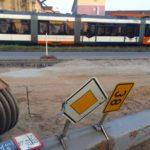 Arbeiten an Stromleitung in der Friedrich-Ebert-Straße