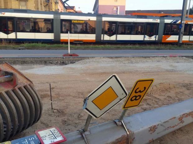 Nach den erheblichen Verkehrsbehinderungen in der Friedrich-Ebert-Straße, kommt es für Restarbeiten nun eine weitere Woche zu Teilsperrungen (Archivbild) | Foto: Neckarstadtblog