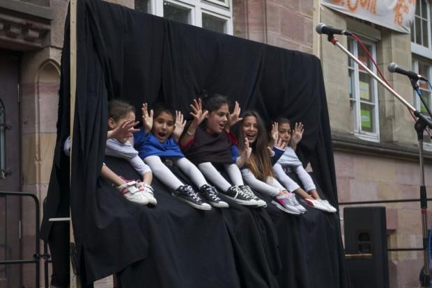 Sichtlich Spaß hatten auch die Kinder an ihrem komödiantischen Schauspiel | Foto: Neckarstadtblog