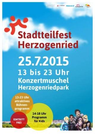 Werbeplakat für das Stadtteilfest