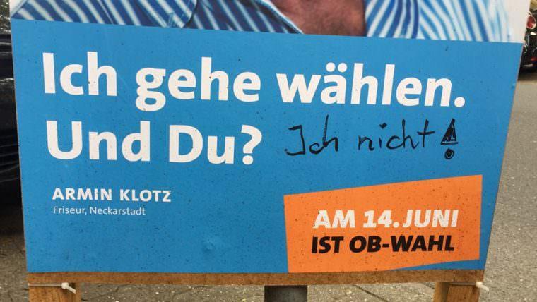 Diese von der SPD Neckarstadt-Ost aufgestellten Plakate sollten letzten Sommer die Neckarstädter/innen zur Wahlurne bringen | Foto: M. Schülke