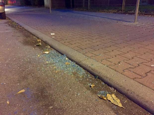 Der Tatort in der Carl-Benz-Straße am folgenden Abend | Foto: Neckarstadtblog