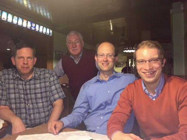 Christian Stalf und Chris Rihm (v.r.) mit weiteren CDU-Mitgliedern | Foto: CDU Neckarstadt
