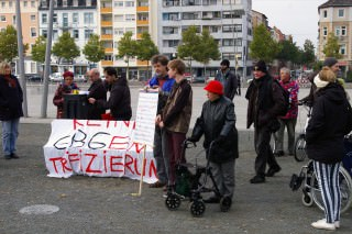 Am Anfang stand die Kundgebung der Initiative FairMieten auf dem Alten Messplatz | Foto: Neckarstadtblog