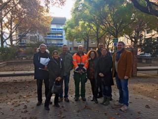 Stadtrat Thorsten Riehle (rechte Bildseite) mit engagierten Bürger/innen, städtischen Angestellten und Verantwortlichen der Verwaltung | Foto: Nasrin Mir Shakkeh