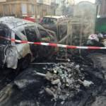 Glascontainer und mehrere Fahrzeuge ausgebrannt (Update!)