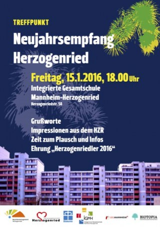 Plakat: Quartiermanagemt Herzogenried