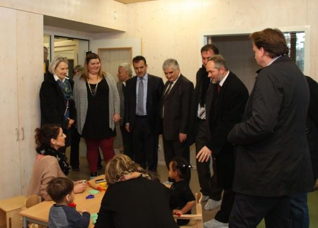 Bildungsbürgermeisterin Dr. Ulrike Freundlieb im Kooperationskinderhaus Kleestraße | Foto: Stadt Mannheim