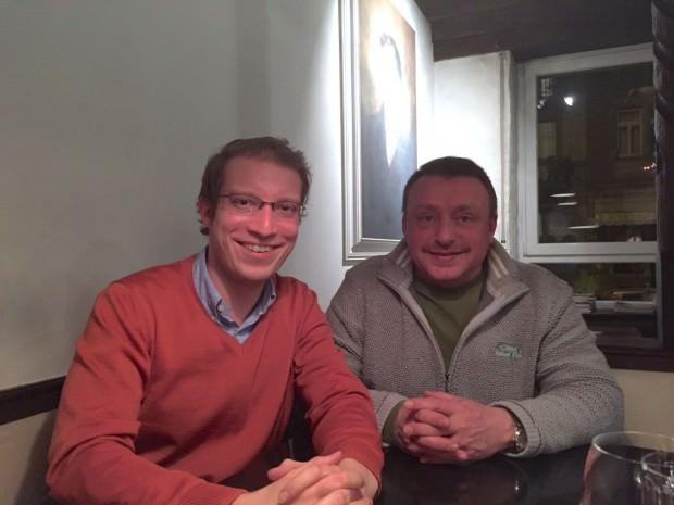 Sprachen beim Stammtisch über erfolgreiche Mittelstandspolitik in den Stadtteilen – die beiden CDU-Ortsvorsitzenden Christian Stalf (l.) und Roger Bloemecke | Foto: CDU Neckarstadt