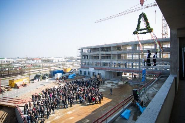 Im Frühsommer 2017 soll die neue Zentrale bezugsfertig sein | Foto: Stadt Mannheim / Andreas Henn