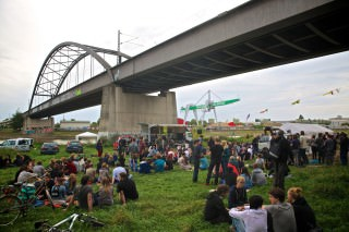 Der Brückenaward ist benannt nach seinem traditionellen Veranstaltungsort, hier im Bild von 2014 | Foto: Florian Köhler (cc-by 3.0)