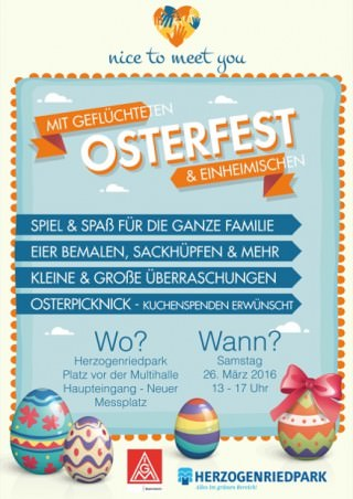 """Flyer: """"Nice to meet you""""-Osterfest"""
