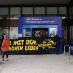 Protest eskaliert in GBG-Zentrale