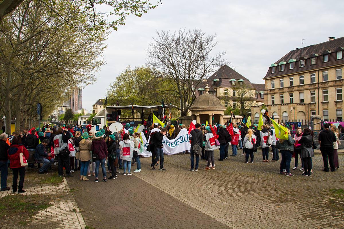 Warnstreik am Uniklinikum im April 2016 | Foto: CKI