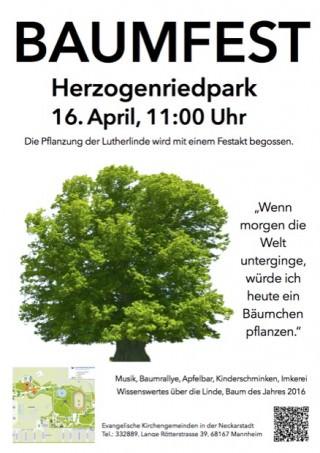 Das offizielle Veranstaltungsplakat. Die abgebildete Karte ist unten nochmals als Detailausschnitt eingebunden | Plakat: Evangelische Kirche in Mannheim