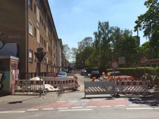 Bauarbeiten in der Kinzigstraße | Foto: Neckarstadtblog
