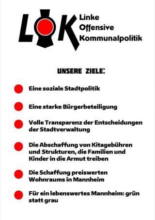 Flyer der Initiative | Bild: LOK Mannheim
