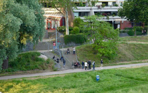 Aufenthaltsort Treppenabgang zum Neckarufer | Foto: Neckarstadtblog