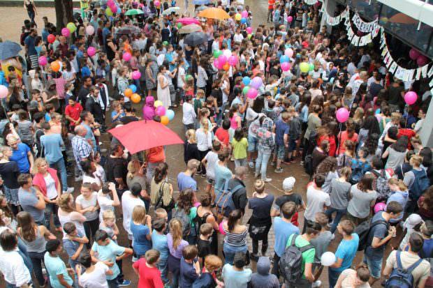 Stehen für Toleranz und Vielfalt ein: Die rund 1600 Schülerinnen und Schüler der IGMH | Foto: Stadt Mannheim