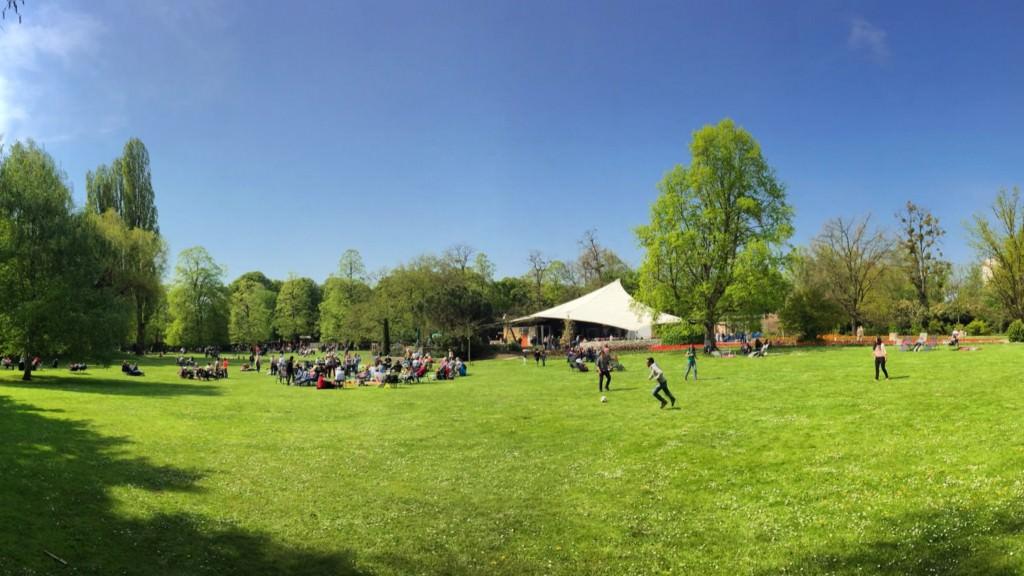 Der sommerliche Blick auf die Konzertmuschel im Herzogenriedpark | Foto: Neckarstadtblog