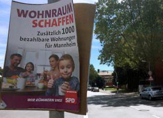 Schizophrene Wohnungspolitik in Mannheim: Vorne wird bezahlbarer Wohnraum gefordert, hinten abgerissen | Foto: Neckarstadtblog