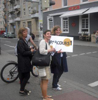 Parcours 1 führte in die Neckarstadt-West |Foto: Ruth Fanderl