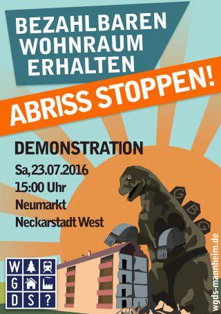 Der offizielle Demo-Aufruf | Plakat: WGDS
